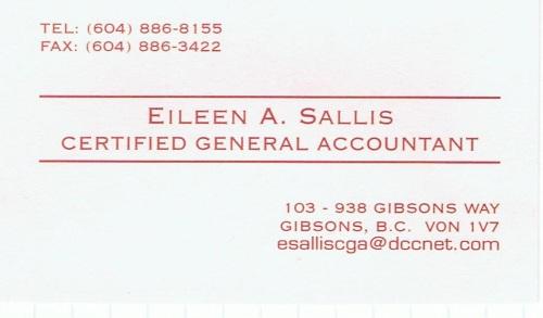 Eileen Sallis, CGA
