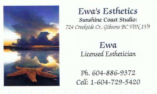 Ewa's Esthetics, Gibsons BC