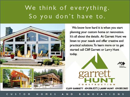 Garrett Hunt Construction, Gibsons BC