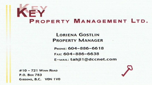 Key Property Management, Gibsons BC