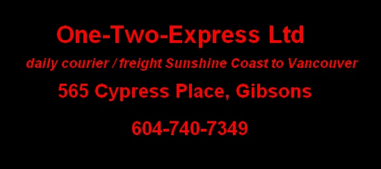 One Two Express Ltd, Gibsons BC