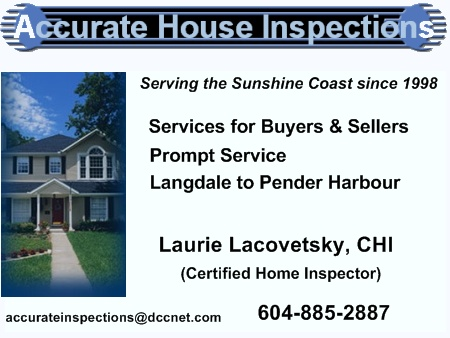Accurate House Inspections, Gibsons BC